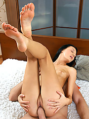 Gorgeous Nubile Alexcia gets deeply banged by a stiff cock and takes cum explosion in her mouth