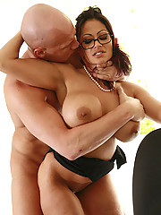 Naughty Secretary Ava Lauren Gets A Raise Out Of Bosses Stiff Cock