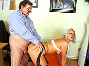 Old horny guy fucks a much younger sexy girl