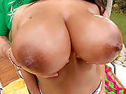 Amazing smoking hot ass big tits penelop crux gets drilled hard in these hot wet bikini fucking cumfaced poolside fucking big movies