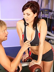 Horny gymteacher banging a hot cutie anally