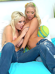 Smoking hot molly and noelle share their lesbo pussies in these hot outdoor fucking pics