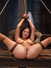 Asian beauty London Keyes suffers hard bondage, domination, rough sex.
