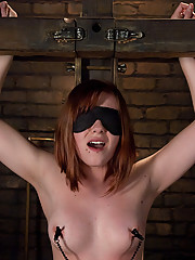 First Lesbian Experience with bondage and domination for Chamille.