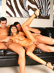Smoking hot fucking big tits model gets fucked by 2 modeling agency managers in these hot 3some fucking cumfaced pics