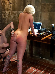 Slave Trainers work in the basement to train sex slut Sasha Knox