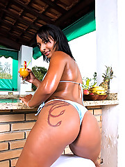 Smoking hot ass perfect tittys brazilan bikini babe gets fucked hard in her ass in these wet pool fucking pics