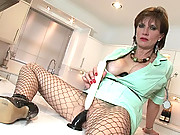 British mature nurse getting off