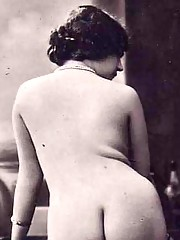 Vintage horny girls posing naked backwards