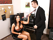 Busty office girl Mackenzee Pierce gets slammed