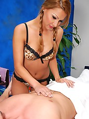 Sizzling hot 18 year old Hungarian gives a sexy massage with a happy ending!