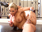 """Phoenix Marie bends her body in funky positions before stuffing her fingers in her ass"""