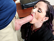 Slut engulfs big cock
