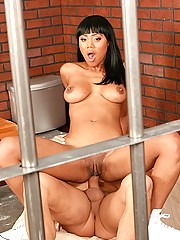 Horney slut in the prison