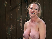 Hot big titted MILF bound in metal, contorted, and fucked by a brutal machine to multiple orgasms.