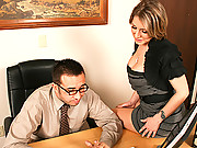Velicity Von gets pummeled hard at the office