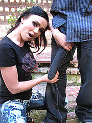Brunette girl fighting with a monster black cock