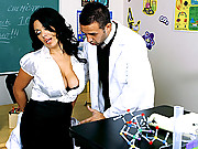 Professor West gets fucked hard in class
