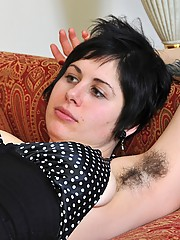 Busty hair lover Luna finishes reading on the couch and then models her juicy pussy and hairy ass. Luna