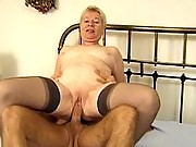 Granny gets fucked and jizzed on