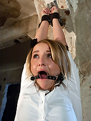 20 year old damsel in distress fucked in hard bondage.