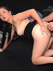 Amazing hot black hair asian gets fucked hard up her ass in these screaming pics
