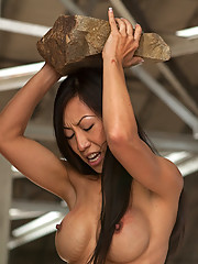 Sex Slave Tia Ling trains to earn hard dick in her slave pussy