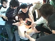 Akari Hoshino cute asian girl sucking and fucking in public