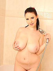 Busty Moms in Shower