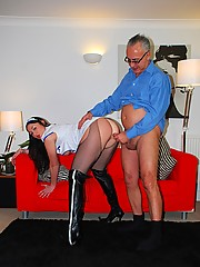 British nurse nailed by old chap with his rod