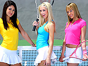 Amazing super hot fucking  3 tennis playing teens masterbate and fuck eachother in their hot skirts in these hot tennis teen fucking group sex big xxx movies