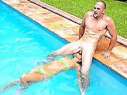 Super sexy hot ass bikini latina gets picked up at the beach shower in these hot poolside fucking cumfaced hd movies