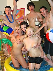 Check out this hot college room pool party group sex fucking party in these hot cumfaced pics