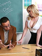 busty Madison gets her teachers dick