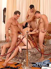 Betty Sparks Gangbanged Getting All Holes Filled At Once