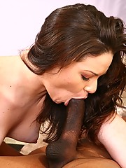 Leenuh Rae Gobbles Big Black Pole And Rides It Hard