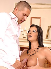 Beautiful Virginia Sucks And Fucks Meaty Cock Getting Boobs Jizzed