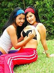 Gigi Spice and Maria have amazing lesbian sex with a strap on