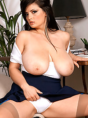 Huge Boobs in Office