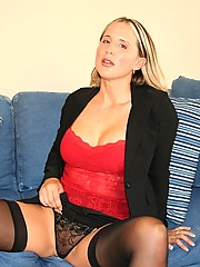 16 Pics- Naughty secretary at home gets naked