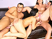 Smoking hot long leg euro babes get drilled in ass and pussy in this hot group sex 4 hot cumfaced movies