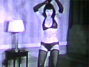 Famous Betty Paige dancing in her underwear