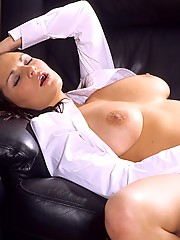 Beautiful cutie with big titties masturbates