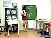Horny teacher screws a very sexy schoolgirl