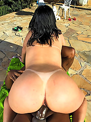 Super hot long leg brazilian bikini fucked up her ass in these wet poolside pics