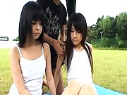 Chiwa Osaki petite body stripped nude and groped in public