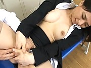 Yuka Osawa teacher loves her perky tits and wet pussy