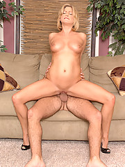 Busty Anilos Lya Pink loves riding on top of a stud before she gets a hot load of cum