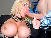 Super hot big tits mini skirt office babe gets fucked hard by her employee in these hot desk banging cumfaced babe fucking movies