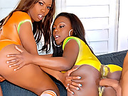 2 hot big ass body painted black babes get drilled hard and cumfaced in these hot big fucking movies